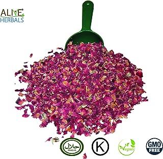 Alive Herbal Dried Red Rose Buds and Petals~ Premium Quality of Dried Rose Buds, Koshar, Vegan, Non GMO Also Halal (4 oz.High Quality Dried Rose Buds and Petals)