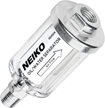 "Neiko 30252A Water and Oil Separator for Air Line, 1/4"" NPT Inlet and Outlet, 90 psi"