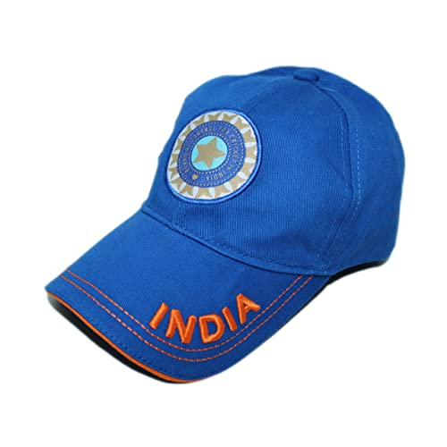 85dc71fbe3e40 BIZZARE Men s Polycotton Sports Team India ODI T-20 Cricket Supporter Cap ( Blue