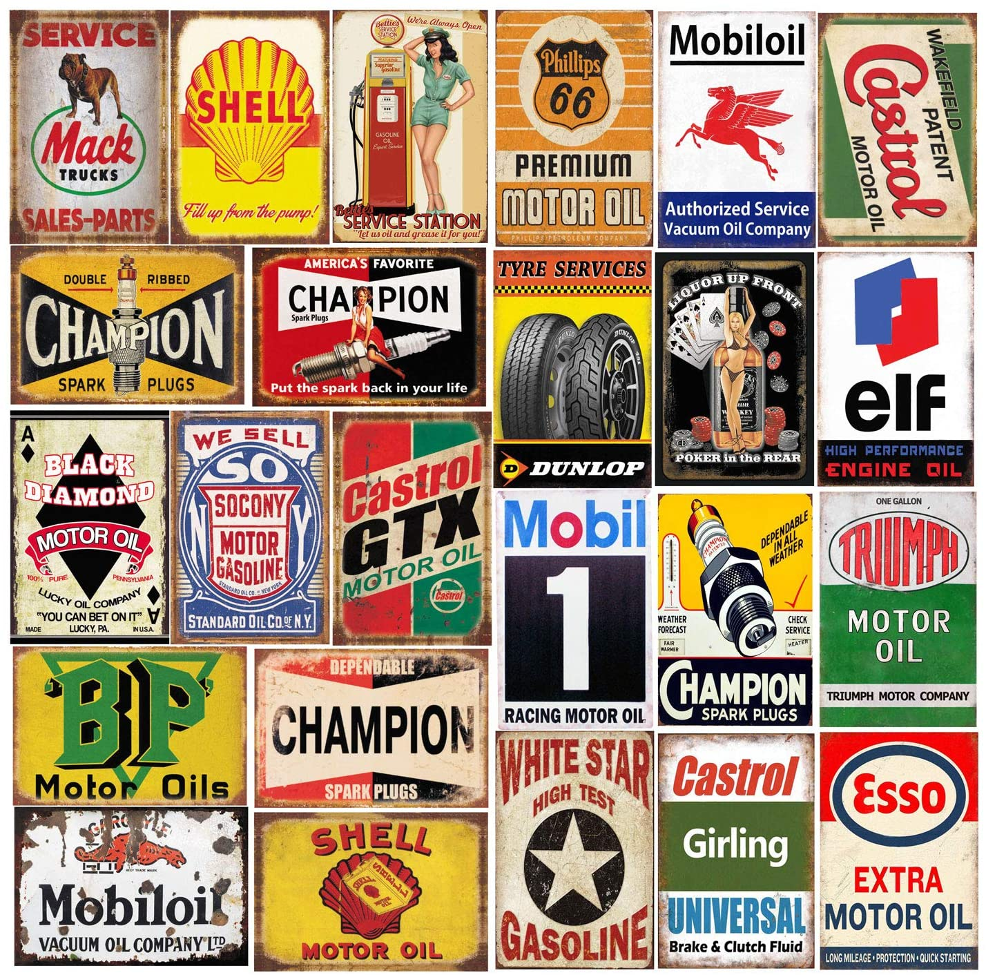 26 shipfree Pieces Gas and Oil Tin Signs for Free shipping on posting reviews Retro Metal Ho Sign Vintage