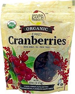 Organic Dried Cranberries - USDA Organic - Non-GMO, Gluten-Free - OU-Kosher Parve - 4 Oz (113 g) (Single)
