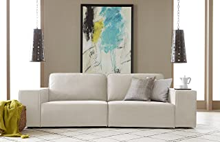 Serta Truman Sofa, Chenille Fabric, Cream