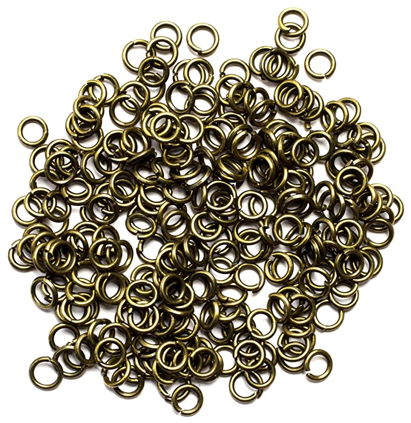 Cousin DIY 250pc 4mm Open Jump Rings - Antique Gold u148136990510583