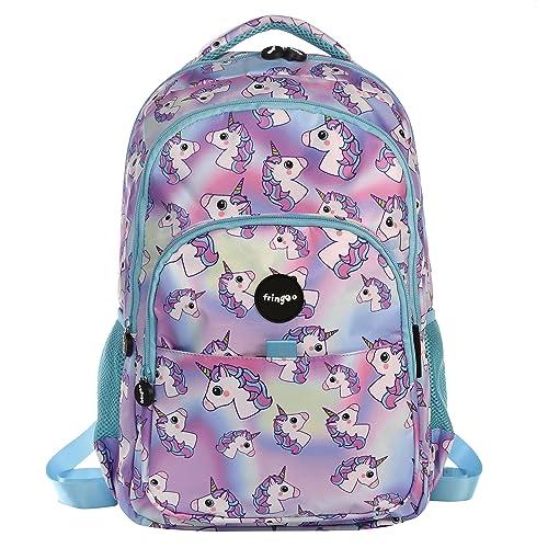 FRINGOO® Girls Boys Multi-compartment School Backpack Waterproof Fits  Laptop 17   ( 2840ae00a0e52