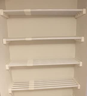 EZ Shelf - DIY Expandable Linen Closet Kit - Four 19.5