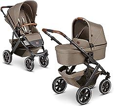 ABC Design 2 in 1 Kinderwagen Salsa 4 Air Fashion Edition – Kombikinderwagen für Neugeborene & Babys – Inkl. Sportsitz Buggy & Tragewanne – Radfederung & Luftreifen – Farbe: nature