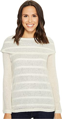 Tribal - Long Sleeve Light Knit Sweater w/ Shawl Collar