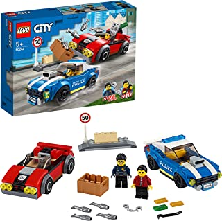 LEGO City 60242 Police Highway Arrest with 2 Car Toys, Adventure Chase Building Set for Kids 5+ Year Old