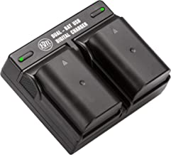BM Premium 2-Pack of DMW-BLF19, DMW-BLF19e, DMW-BLF19PP Batteries and Dual Battery Charger for Panasonic Lumix DC-G9, DC-GH5, DMC-GH3, DMC-GH3K, DMC-GH4, DMC-GH4K Digital Camera
