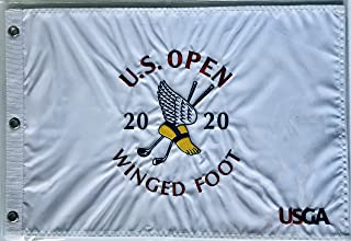 2020 u.s. open golf flag winged foot embroidered logo pin flag new pga