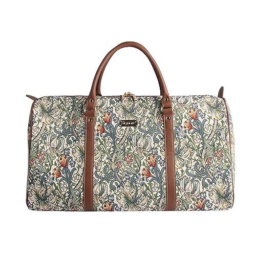 84b5ee26eb64 Designer William Morris Women Canvas Carry-on Overnight Weekender Duffel  Travel Bag