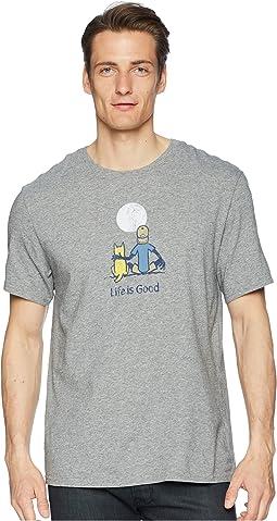 Life is Good Jake & Rocket Moon Smooth Tee
