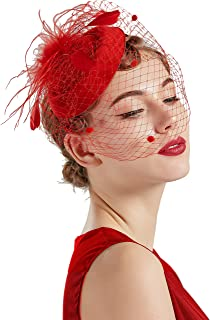 large red fascinator