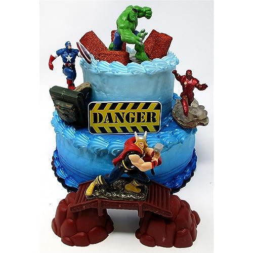 Avengers Birthday Cake Amazon Com