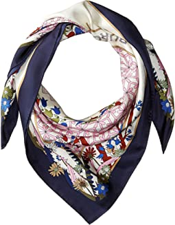 Meadow Folly Silk Square Scarf