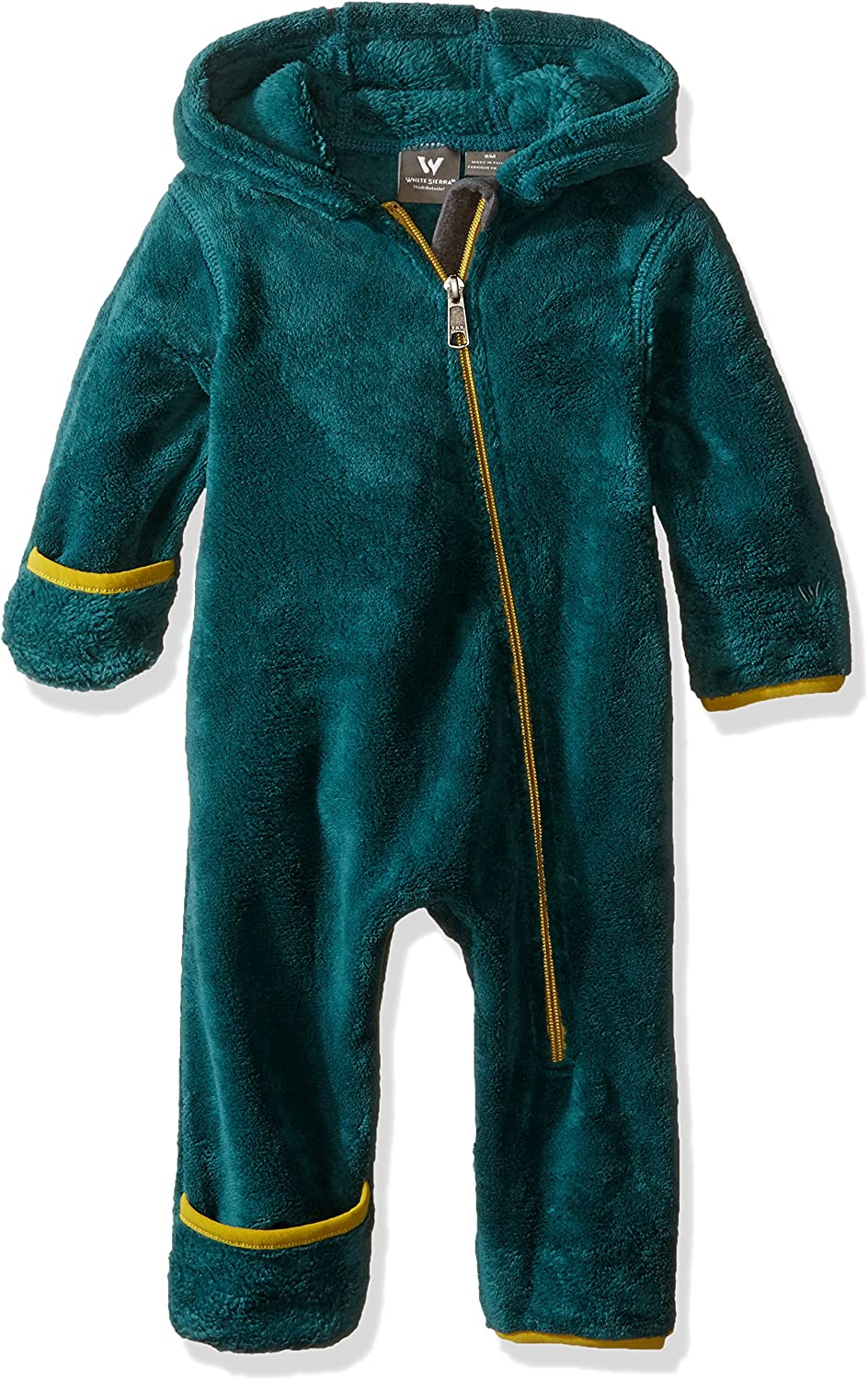 White Sierra Kids Cozy Fleece Onesie Jacket, Pacific, 12 months