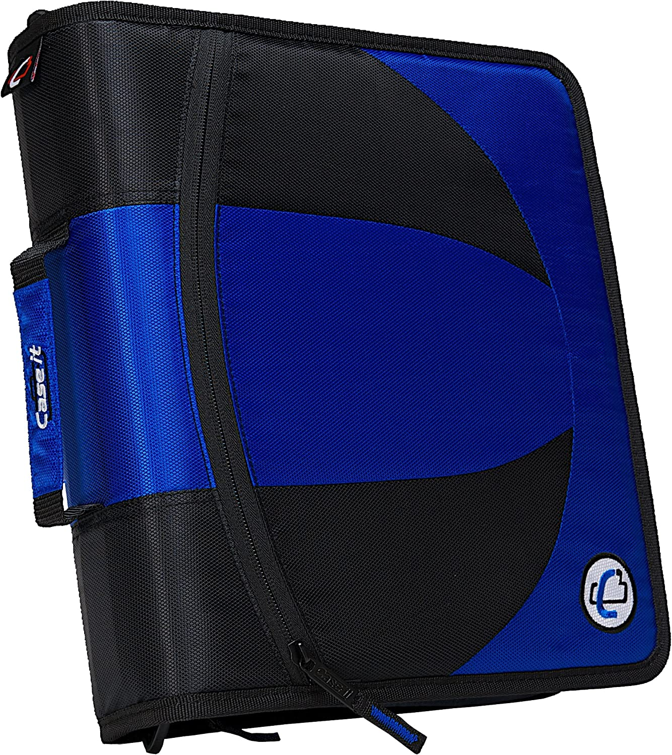 Case-it Ranking TOP5 Dual 2-in-1 Zipper D-Ring Binder 2 Sets of Rin Financial sales sale 1.5-Inch