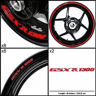 Stickman Vinyls Motorcycle Decal Gloss Red Graphic Kit For Suzuki GSXR 1300 Hayabusa