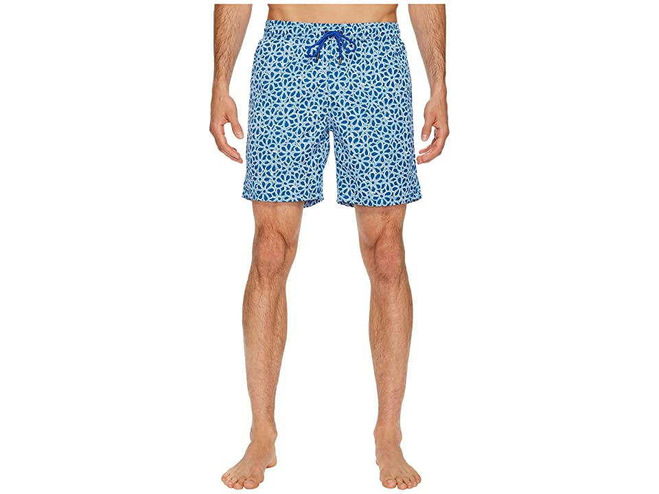 Mr. Swim Floral Printed Dale Swim Trunk (Blue) Men