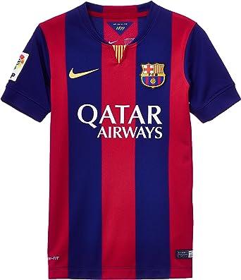 NIKE 2014/15 FC Barcelona Stadium Home - Camiseta/Camisa Deportiva para Hombre