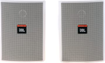 JBL Professional Control 23 High Output Two-Way Mid/High Frequency Loudspeaker, White (Sold as Pair) (Control 23-WH)