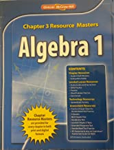 Glencoe Algebra 1 2008 Chapter 3 Resource Masters