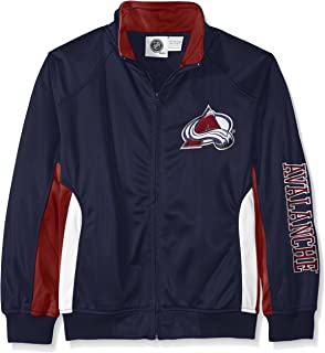 NHL Big and Tall Tricot Track Jacket with Logo WordMark