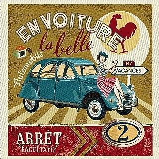 Paris Red 2CV Ente Fahrzeuge Städte Slim Poster Plakat Druck Grösse 30,5x91,5