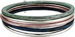 Robert Lee Morris - Silver and Patina Bangle Set