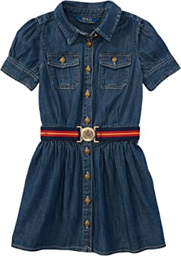 Polo Ralph Lauren Kids Denim Shirtdress (Toddler)