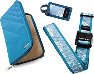 Samsonite Luggage Travel Wallet and ID Giftable Kit, Blue Floral, One Size