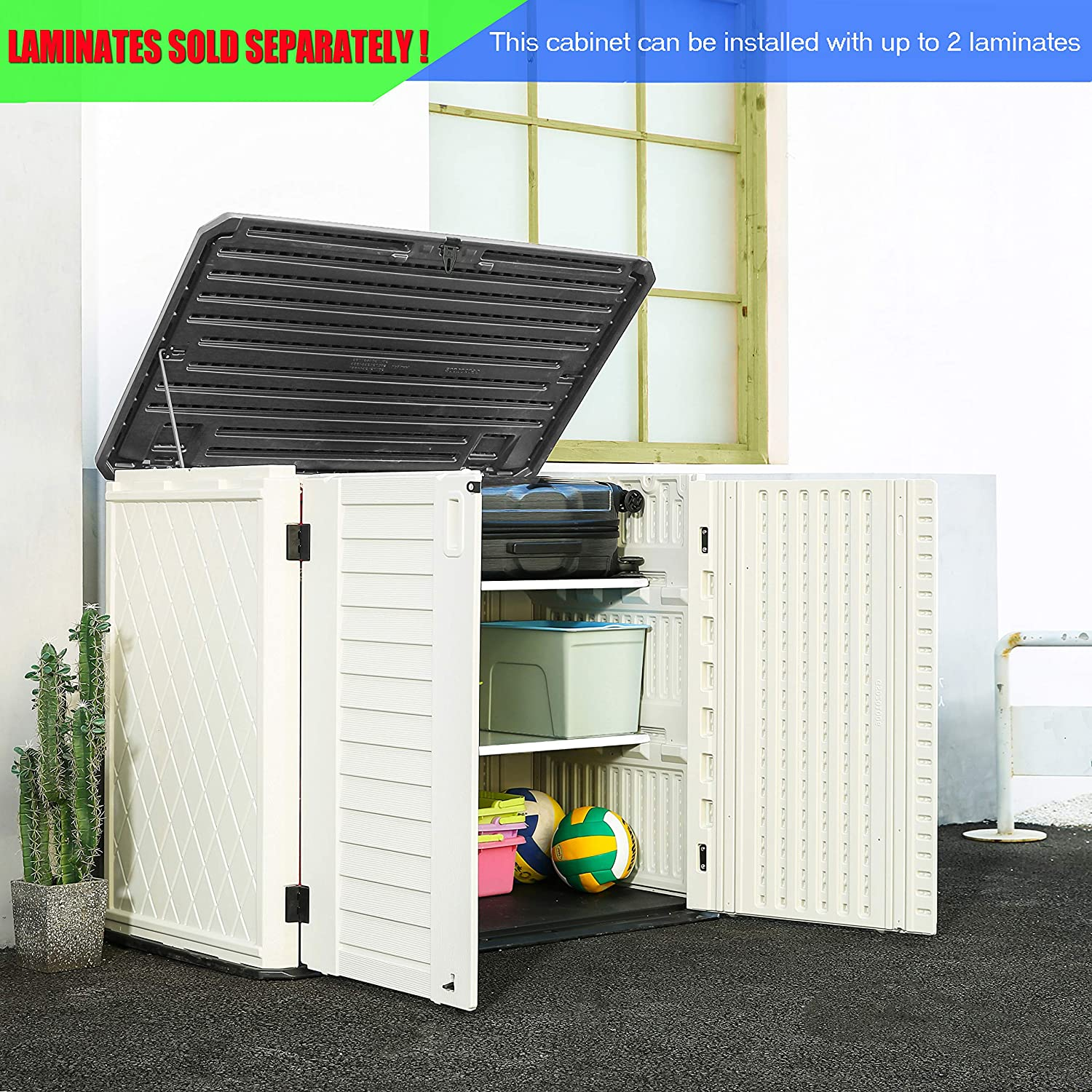 """ADDOK Metal Laminate Shelf Easy Installed Durable Shelving Board for Storage Shed Unit White//46/""""x13/""""x1/"""""""