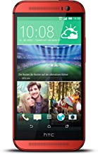 HTC ONE M8 16GB Single SIM Android Smartphone - Factory Unlocked - International Version with No Warranty (Red)