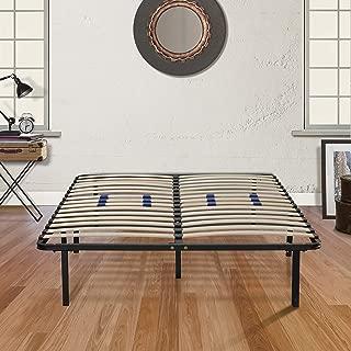 Boyd Sleep Finnish Platform Bed Frame/Metal Mattress Foundation with Adjustable Hardwood Slats, Black, Queen