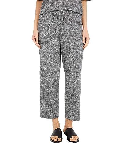 Eileen Fisher Organic Cotton Hemp Melange Slouchy Cropped Pants (Ash) Women