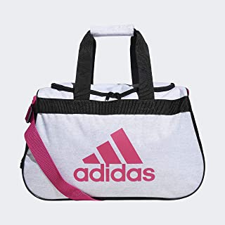 black and white pink duffle bag