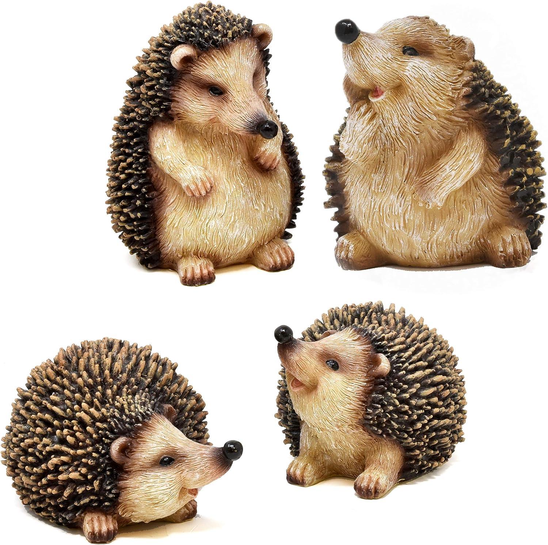 16. Mini Hedgehog Figurines - Set of 4