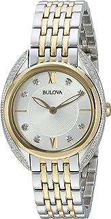 Bulova Women's Quartz Watch with Stainless-Steel Strap, Two Tone, 14 (Model: 98R229)