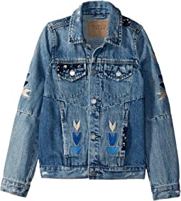 Embroidered Detail Denim Jacket (Big Kids)