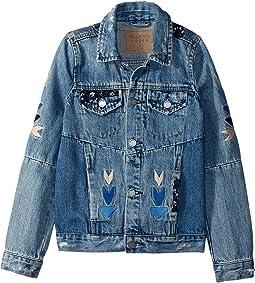 Embroidered Detail Denim Jacket (Big Kids)