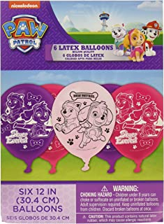 amscan Latex Balloons, Paw Patrol Girl Collection, Party Accessory One-Size, Multicolor