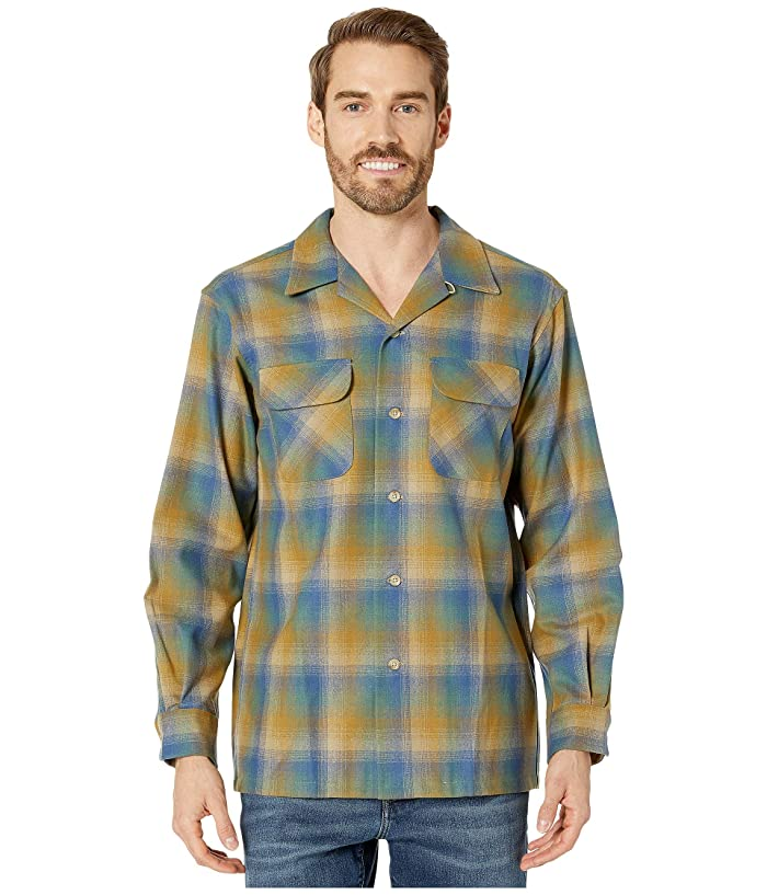 1950s Men's Clothing Pendleton LS Board Shirt CopperBlue Ombre Mens Long Sleeve Button Up $139.00 AT vintagedancer.com