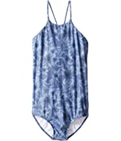Seafolly Kids - Tropical Vacation High Neck One-Piece (Little Kids/Big Kids)