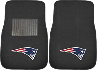 FANMATS 10739 NFL New England Patriots 2-Piece Embroidered Car Mat
