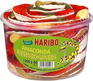 HARIBO - Anaconda - Riesenschlangen - Weingummi - Schaumgummi - Box mit 30 Stück