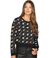 Jeremy Scott - Cropped Guitar Sweatshirt