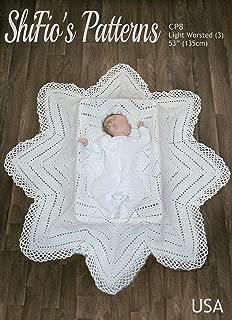 baby christening shawl crochet pattern