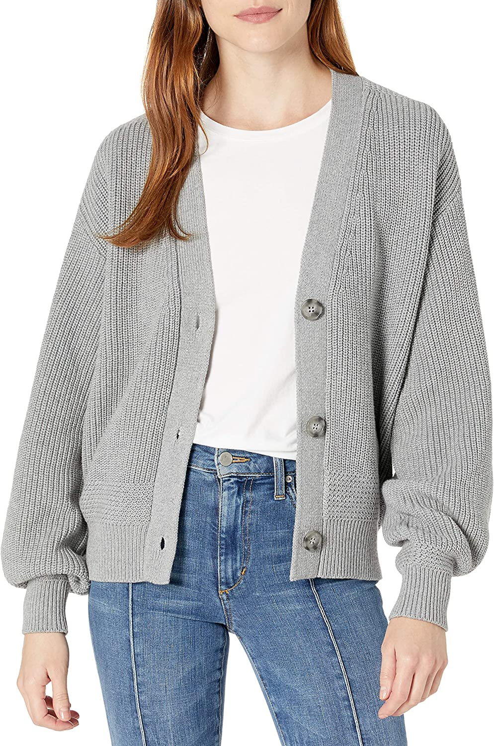 Cable Stitch Women's Cropped Textured Cardigan