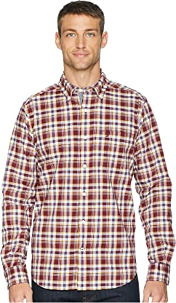 Long Sleeve Layer Up Plaid Woven Shirt