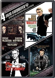4 Film Favorites: Steve McQueen (Bullitt, The Cincinnati Kid, The Getaway: Deluxe Edition, Papillon)